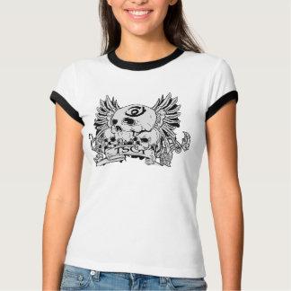 Cráneo del chica TSOI con las alas Camiseta