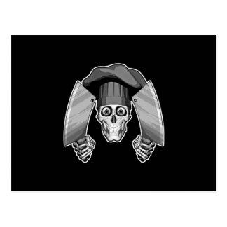 Cráneo del cocinero: Cuchillos de carnicero Postal