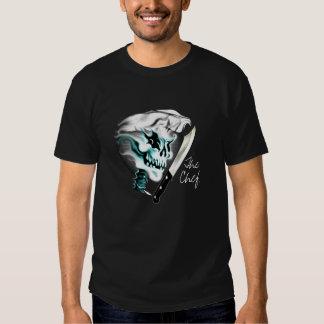 Cráneo del cocinero del fantasma camisetas