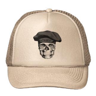Cráneo del cocinero del gorra negro
