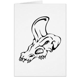 Cráneo del dinosaurio tarjeta de felicitación