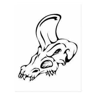 Cráneo del dinosaurio postal