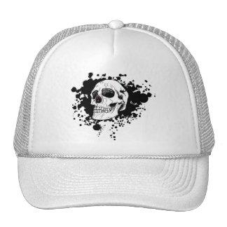 cráneo del emo del vector gorras