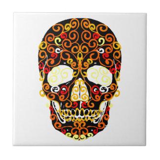 cráneo del estallido azulejo de cerámica