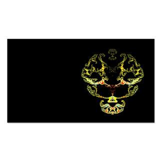 Cráneo del fractal tarjetas de visita