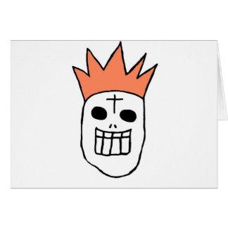 Cráneo del gorra de la corona tarjeta de felicitación