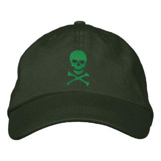 Cráneo del Grunge y casquillo bordado de la Gorra De Beisbol