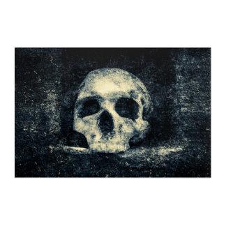 Cráneo del horror de Halloween Impresión Acrílica