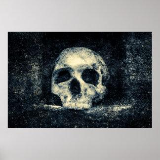 Cráneo del horror de Halloween Póster