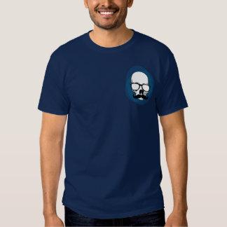 Cráneo del inconformista con el bigote camisetas