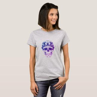 Cráneo del jinete de la motocicleta camiseta