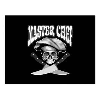 Cráneo del maestro cocinero postal