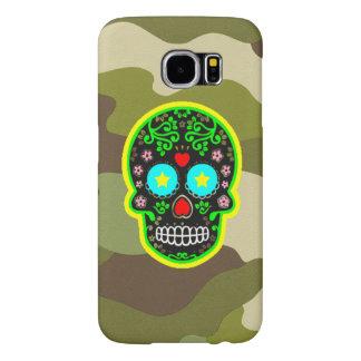 Cráneo del mexicano del camuflaje de la galaxia S6 Funda Samsung Galaxy S6