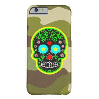 cráneo del mexicano del camuflaje del iPhone Funda Barely There iPhone 6