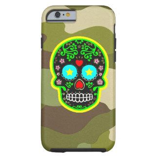 cráneo del mexicano del camuflaje del iPhone Funda Resistente iPhone 6