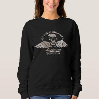 Cráneo del motorista del vintage y emblema de las camiseta