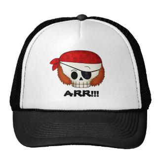 Cráneo del pirata de la escuela vieja de Arr Gorras
