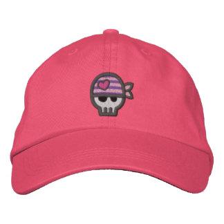 Cráneo del pirata del chica gorras bordadas