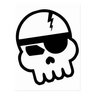 Cráneo del pirata informático del pirata postal