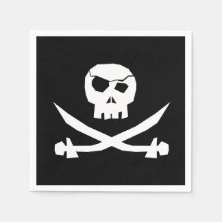 Cráneo del pirata servilletas desechables