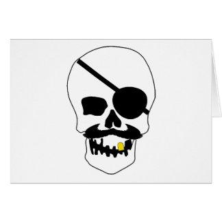 Cráneo del pirata felicitacion