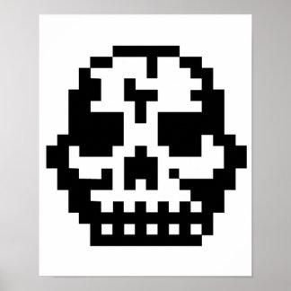 Cráneo del pixel poster