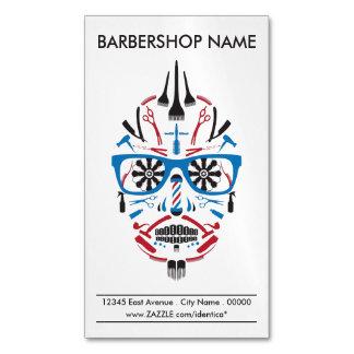 cráneo del punk de la barbería tarjetas de visita magnéticas