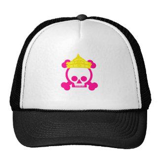 cráneo del rey de la reina gorro de camionero