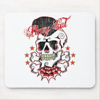 Cráneo del Rockabilly Alfombrilla De Ratón