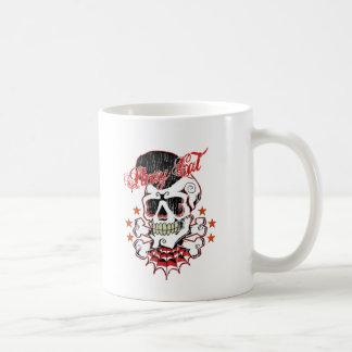 Cráneo del Rockabilly Taza De Café