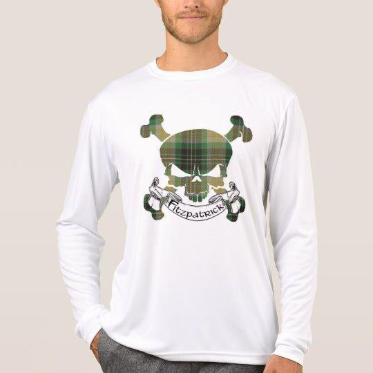 Cráneo del tartán de Fitzpatrick Camiseta