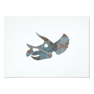 Cráneo del Triceratops Invitación 12,7 X 17,8 Cm