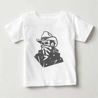 Cráneo del vaquero con el pañuelo y el gorra camiseta de bebé