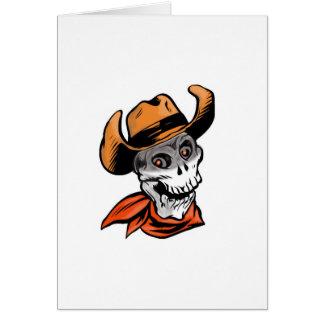 Cráneo del vaquero tarjeta