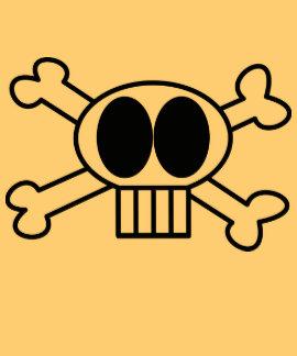 cráneo-doble-huesos camiseta