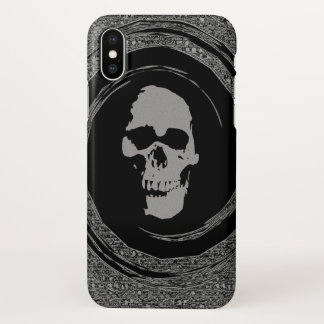 cráneo en el giro funda para iPhone x