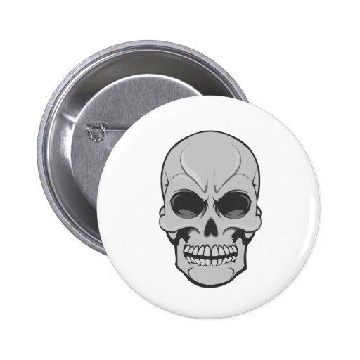 Cráneo enojado: Ejemplo del vector: Pin