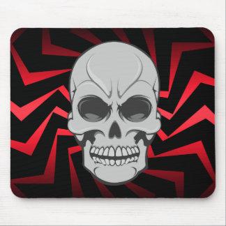 Cráneo enojado: Ejemplo del vector: Mousepad de en
