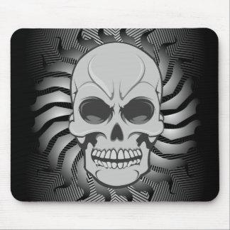 Cráneo enojado: Ejemplo del vector: Mousepad de en Alfombrillas De Ratón