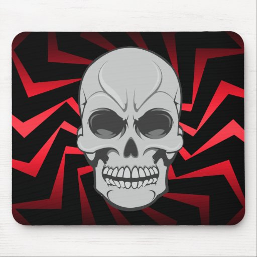 Cráneo enojado: Ejemplo del vector: Mousepad de en Alfombrillas De Raton