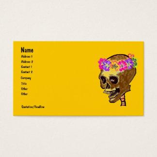 Cráneo esquelético colorido tarjeta de negocios