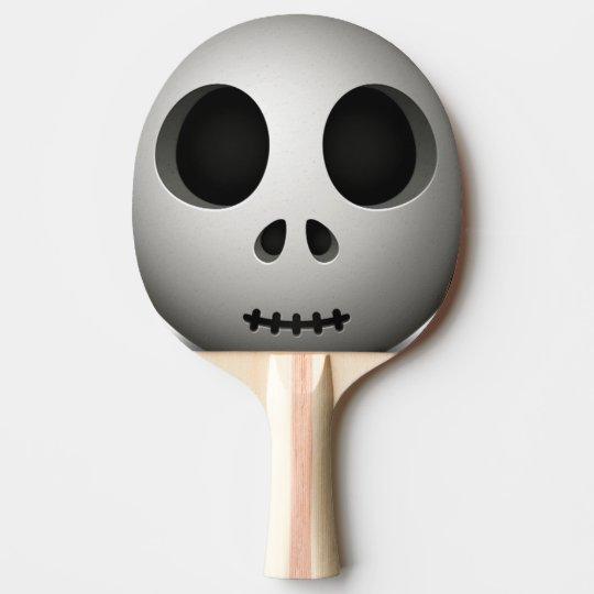 Cráneo fantasmagórico pala de ping pong
