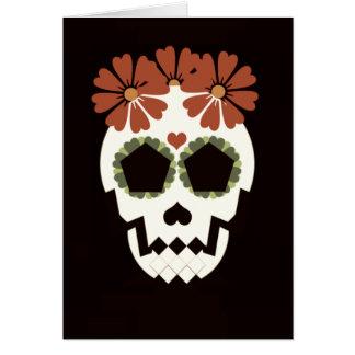 """Cráneo """"Feliz Día De Los Muertos!"""" Tarjeta de"""