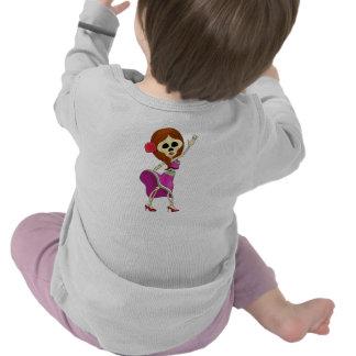 Cráneo femenino del azúcar del Mariachi Camiseta