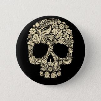 Cráneo floral del azúcar botón redondo de 2