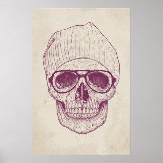 Cráneo fresco póster