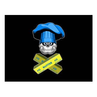 Cráneo gordo v3 del cocinero postal