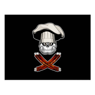 Cráneo gordo v4 del cocinero postal