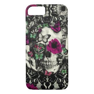 Cráneo gótico del cordón del Victorian con acentos Funda iPhone 7