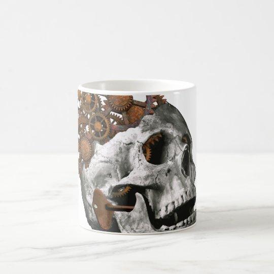 Cráneo gótico Steampunk de la fantasía del arte Taza De Café